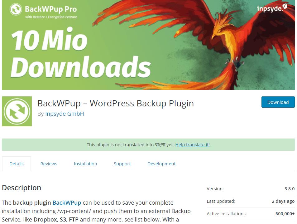 BackWPup Backup Plugins