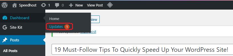 Updates WordPress