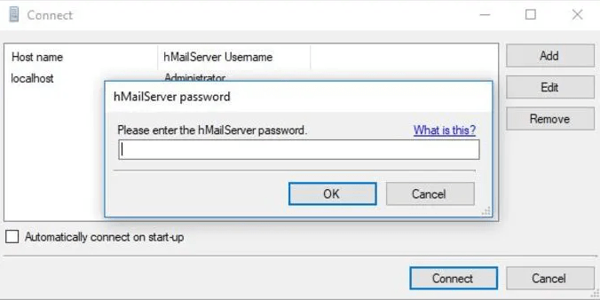 Connect the email server using password