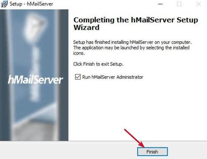 Run hMailServer Administrator