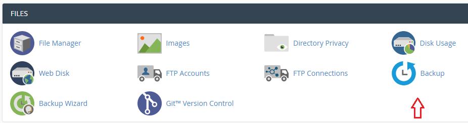 backup WordPress from cPanel