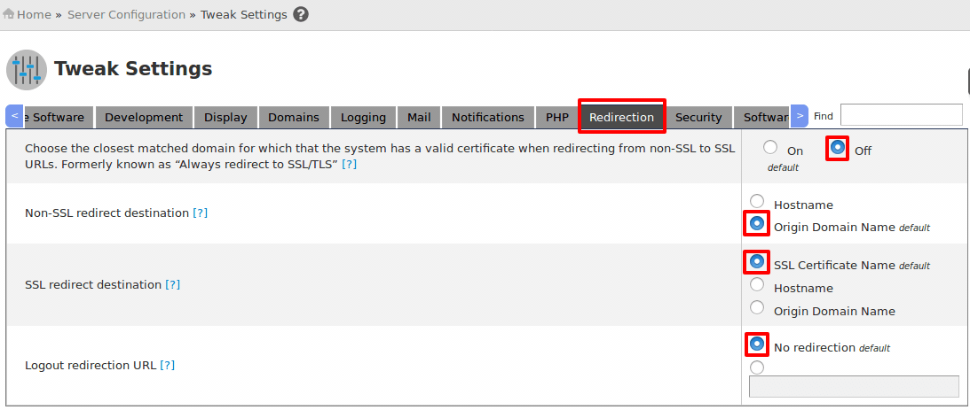 Force HTTPS URL to Access cPanel WHM