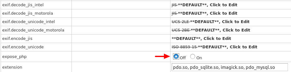 Hide PHP Version Information