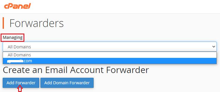 Add Forwarders Managing