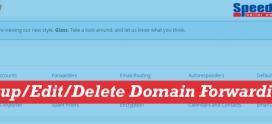 How To Setup/Edit/Delete Domain Forwarding