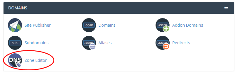 Zone Editor Domains