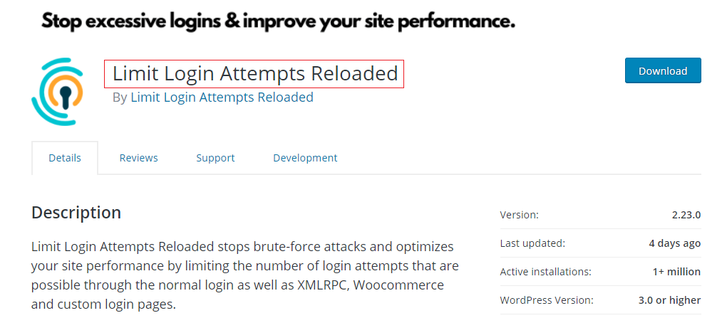 Limit Login Attempts Reloaded WP Security Plugin