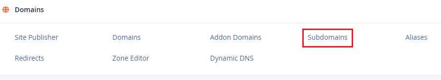 Subdomains Under Domain cPanel