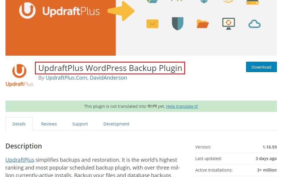 UpdraftPlus WordPress Backup Plugin Security Plugins